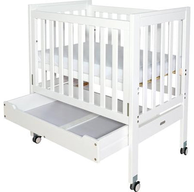 Grotime Backsaver Cot w/ Tidy Draw V2 - White