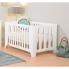 Tasman Eco Alfresco Cot + Mattress + Sgl Bed Conversion Kit - White EX DISPLAY ONLY
