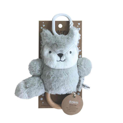 O.B Designs Ross Fox (Silver) Dingaring Teether