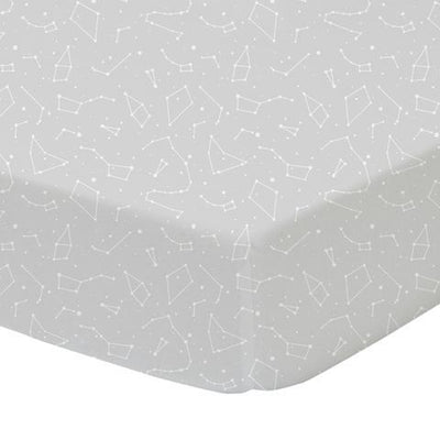Living Textiles Fitted Sheet - Constellations
