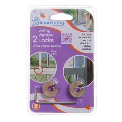 Dreambaby Sliding Window Locks 2pk (Clearance)
