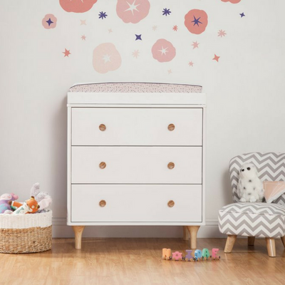 Babyletto Lolly Dresser Changer - Natural / White - Pre Order January 2018