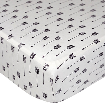Living Textiles Woods Fitted Sheet - Arrows