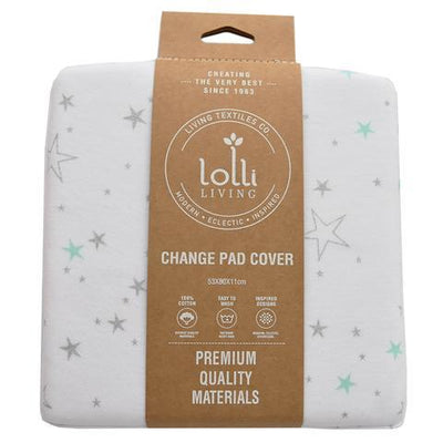 Living Textiles Jersey Change Pad Cover - Shining Stars