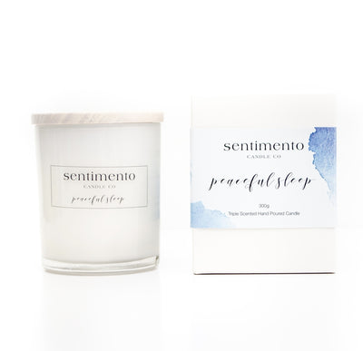 Sentimento Soy Candle - Peaceful Sleep