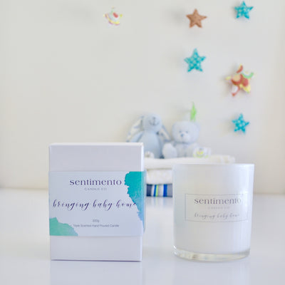 Sentimento Soy Candle - Bringing Baby Home
