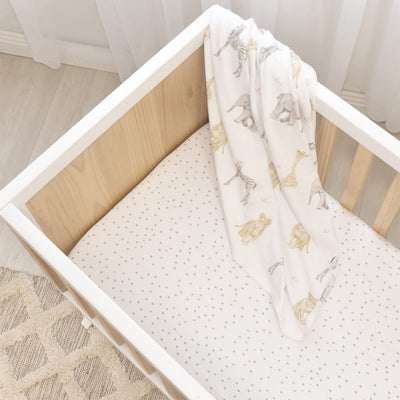 Living Textiles 2pk Bassinet Jersey Fitted Sheets - Savanna Babies/dots