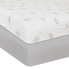 Living Textiles Organic Muslin 2pk Cot Fitted Sheet - Dandelion/Grey