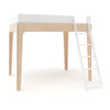 Oeuf Perch Loft Double Bed - Birch/white