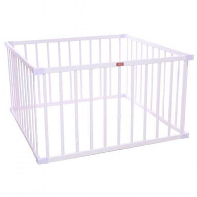 TikkTokk Boss Wooden Square Playpen - White