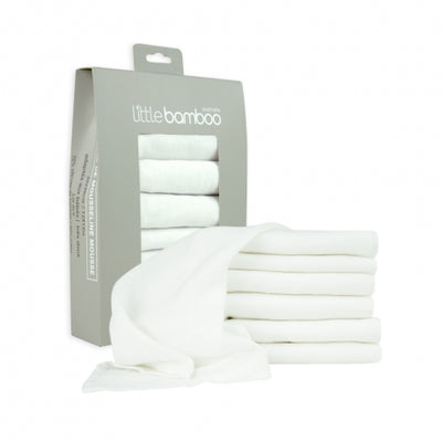 Little Bamboo 6 pk Muslin Face Washers