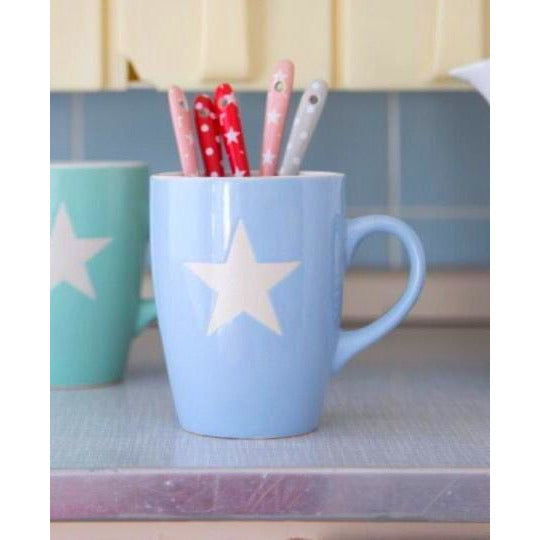 Blue Star Coffee Mug.
