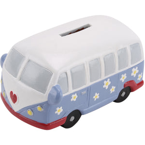 vw Campervan Money box floral design - prettyhomestyle
