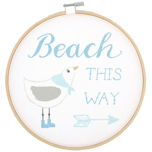 Beach This Way Wall Hoop - prettyhomestyle