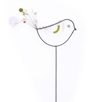 Beaded Bird on a stick - prettyhomestyle
