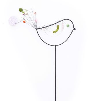 Beaded Bird on a stick.