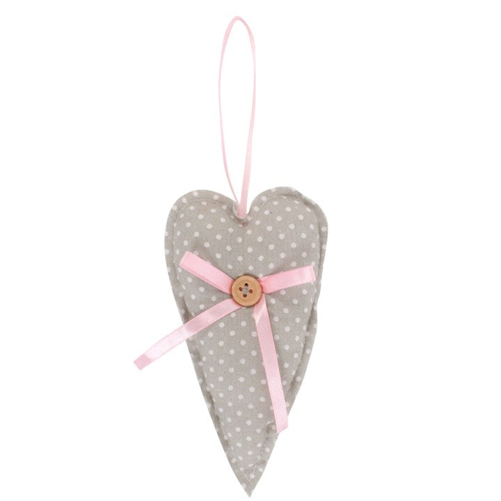Fabric heart decoration - prettyhomestyle