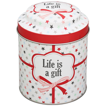 Tea Tin Life is a gift - prettyhomestyle