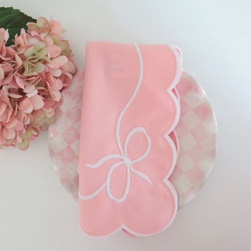 pink bow napkins