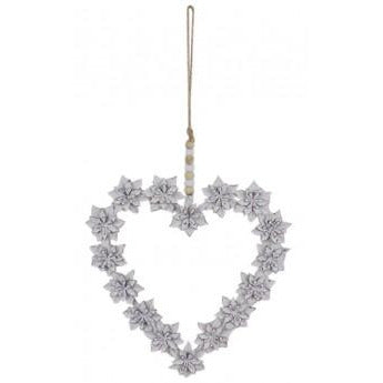 Floral Hanging Heart Decoration.