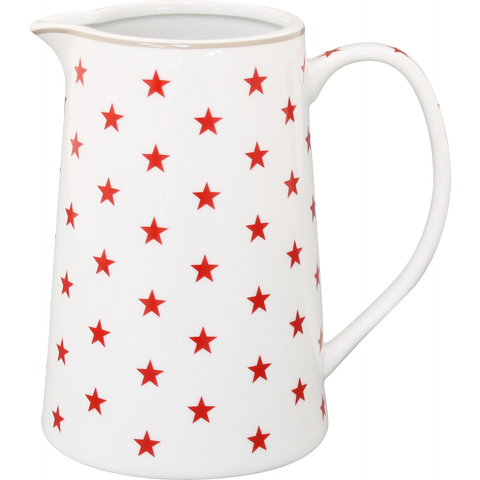 Kitchen Jug Red Star - prettyhomestyle