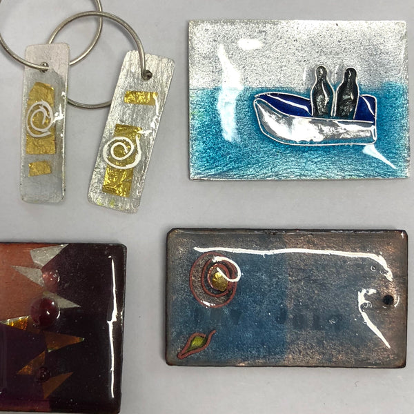 Jewellery Enamelling. Weekend workshop in Oakura. Dec 12th &13th 2020