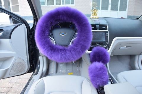 Plush Steering Wheel Cover set