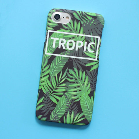TROPIC Letter Leafs Case For iphone 6 6S Plus