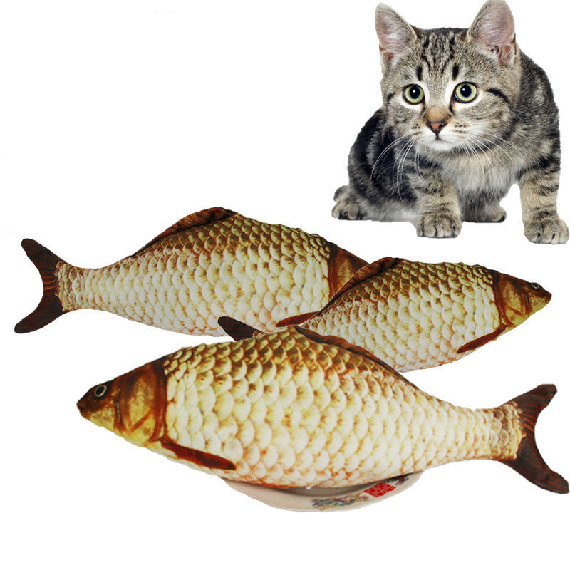 Cat Stuffed Fish Toy