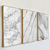 Image of Abstract Grey Marble Veins Canvas Painting