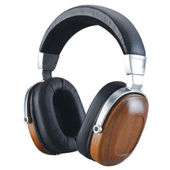 Wooden Over-ear Black Mahogany  Headphone Headset