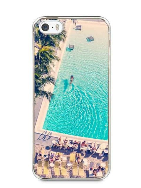 Miami Beach Umbrellas Transparent HardCover Plastic Cover Case For iPhone SE 5 5S 6 6S 6Plus 6S Plus