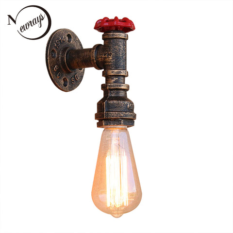 Steam punk Vintage LED sconce wall light