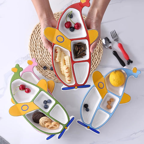 air plane shape Kids breakfast dish