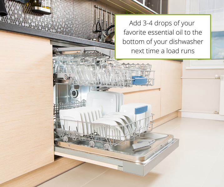 Simple Essential Oil Tip for your Dishwasher