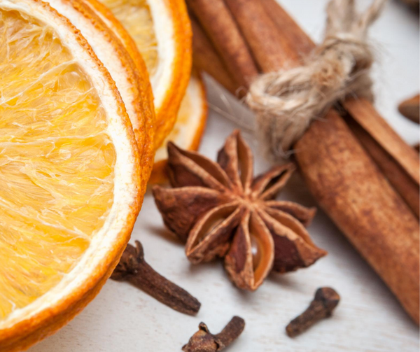 image of clove cinnamon orange lemon