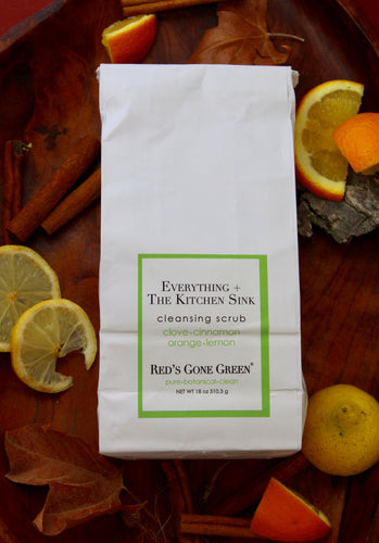 clove cinnamon orange lemon <br> Everything + the Kitchen Sink <br>cleansing scrub