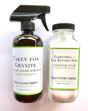 Load image into Gallery viewer, Fir Pine Cinnamon Granite + Natural Stone Cleaner Starter Kit