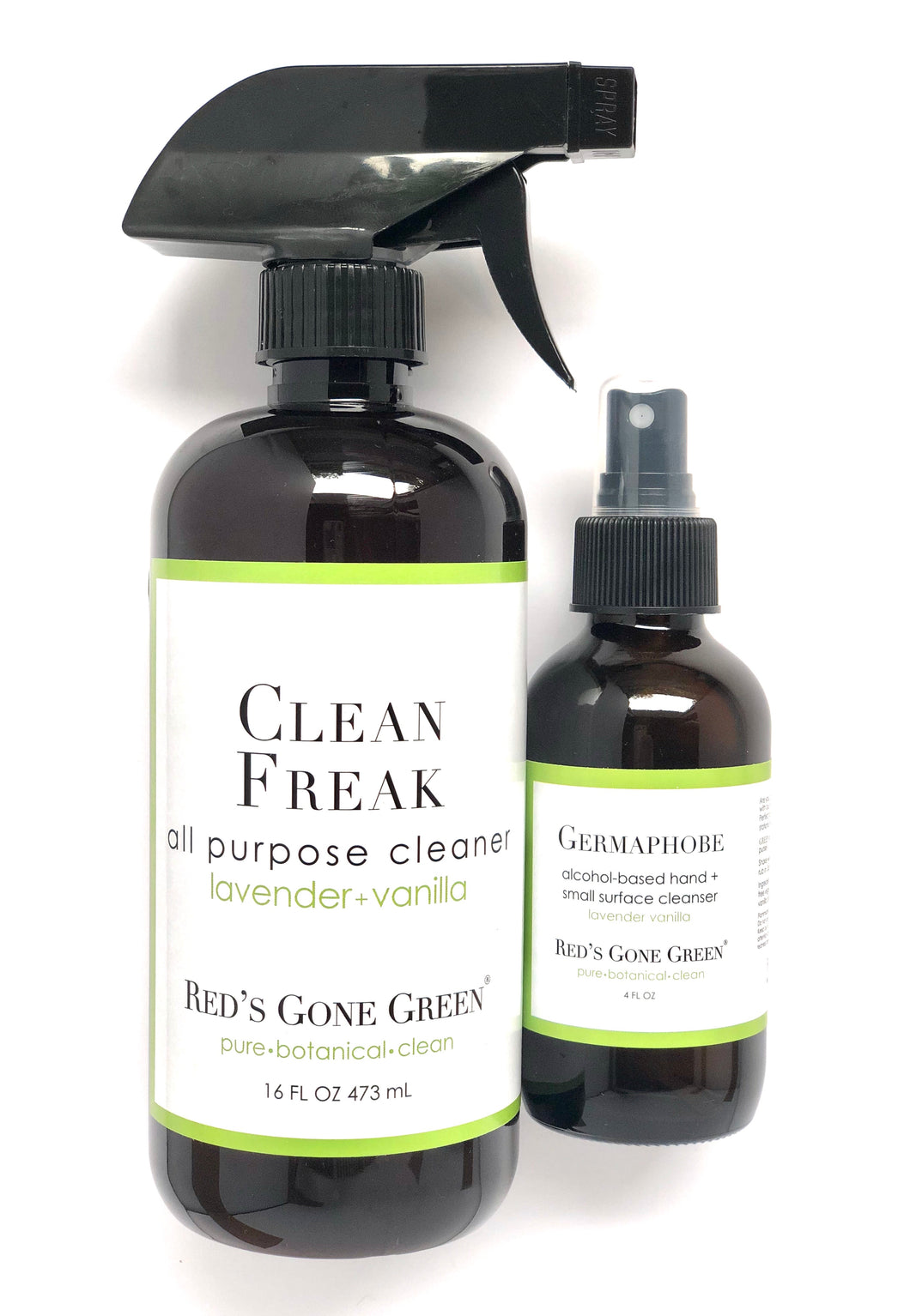 Lavender Vanilla Hand Cleanser & All Purpose Cleaner Set