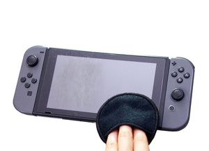 Microfiber Screen Cleaning Round made for the Nintendo Switch