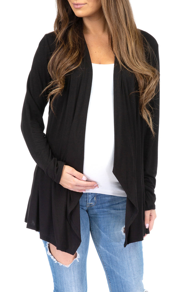 Plus Mother Bee Maternity 2 Pack Maternity Draped Spring Cardigan