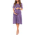 Mother Bee Maternity Women's Shortsleeve Ruched knee Length Dress with Pockets