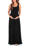 Women's Sleeveless Ruched Maternity Dress with Pockets - Made in USA
