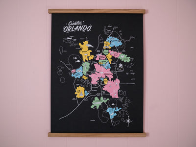 Greater Orlando Map Poster - 18×24ʺ