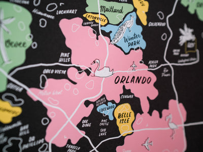 Wholesale — Greater Orlando Map Poster - 18x24""