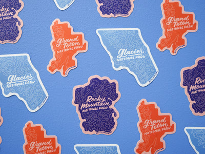 Sticker 3-pack: Rocky, Glacier, Teton