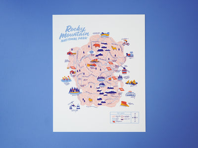 Wholesale — Rocky Mountain Nat'l Park Map - 11x14""