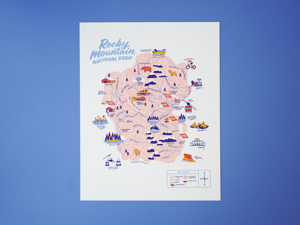 Wholesale — Rocky Mountain Nat'l Park Map - 11x14