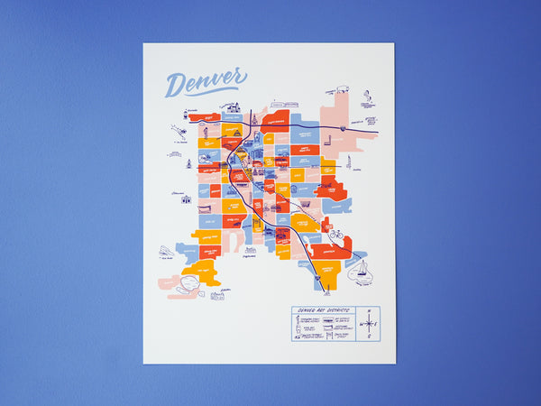 Wholesale — Denver Map - 11x14