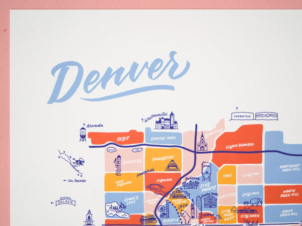 Wholesale — Denver Map - 11x14""